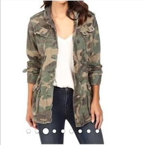 Free People Not Your Brother's Camo Surplus Jacket